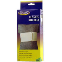 "BellHorn Male Rib Belt Universal, 28""  50'' Rib, White"