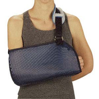 Deep Pocket Arm Sling with Hook and Loop Closure, Medium, Light Blue