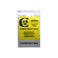 "Chemo Transfer Bag, 9"" x 6"", Clear"