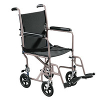 "Transport Chair 19"" Seat, Silver Vein"