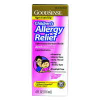Children's Allergy Relief Liquid, 4 oz., Cherry