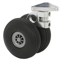 "3"" Front Swivel Caster (Dual) Threaded Caster Stem"