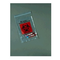 "Biohazard ZipLock Bag, 9"" x 12"""