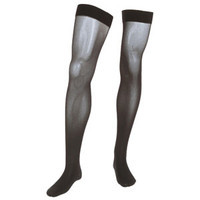 Assure ThighHigh with Silicone Top Band, 3040 mmHg, Closed, Black, Small