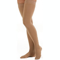 Comfort 3040,Thigh w/Silic.Band,Clsd,Sz 3,Sandstn
