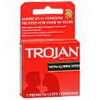 Trojan NonLubricated Condoms, 3/Box
