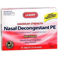 Leader Nasal Decongestant PE Tablets 10 mg (18 Count)