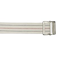 Cotton Gait Belt, Standard Webbing, Metal Buckle, Pinstripe