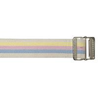 Cotton Gait Belt, HeavyDuty Webbing, Metal Buckle, Pastel Stripes
