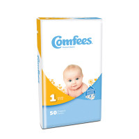 Comfees Baby Diapers - Size 1  48CMF1-Pack(age)