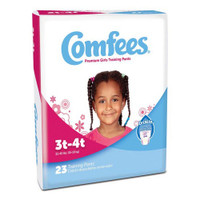 Comfees Girl Training Pants - Size 3T-4T  48CMFG3-Pack(age)