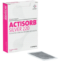 "ACTISORB Silver Antimicrobial Dressing 2-1/2"" x 3-3/4""  53650220-Pack(age)"