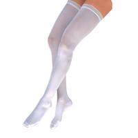 Anti-EM/GP Knee-High Seamless Anti-Embolism Elastic Stockings Medium, White  BI111406-Box