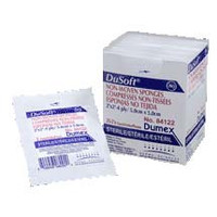 """Dusoft Sterile Non-Woven Drain Sponge 2 x 2"""", 4-Ply  DE84122-Pack(age)"""""""