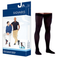 Cotton Comfort Thigh-High with Grip Top, 20-30, Large, Short, Closed, Black  SG232NLSM99-Pack(age)