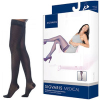 Allure Thigh-High with Grip-Top, 20-30, Medium, Short, Closed, Black  SG712NMSW99-Pack(age)