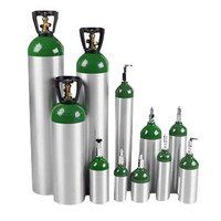 E Oxygen Cylinder with Post Valve 680L Capacity, 111 mm dia.  THGCESPV-Case