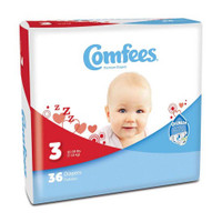 Comfees Baby Diapers - Size 3  48CMF3-Case