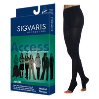 Access Pantyhose, 20-30, Large, Long, Open, Black  SG972PLLO99-Each