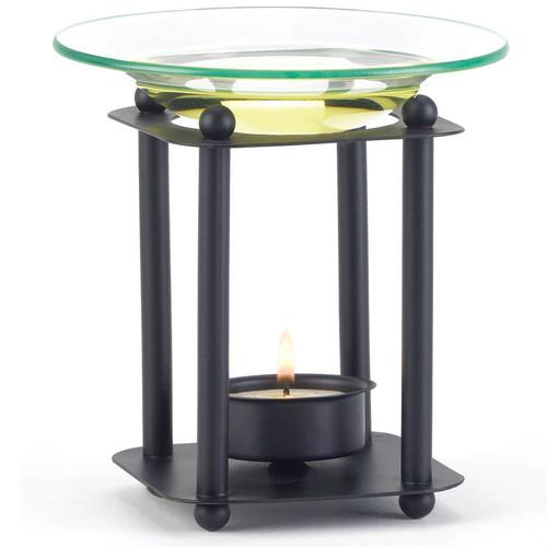 Matte Black Modern Oil Warmer