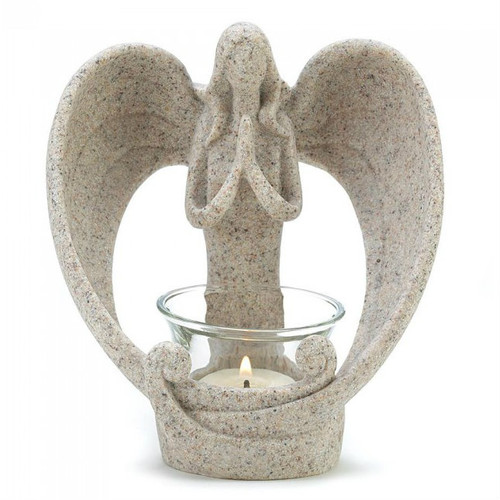 Sand-Look Angelic Candle Holder