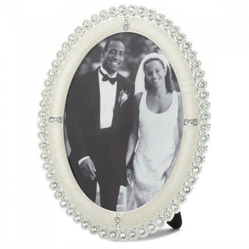 Oval Rhinestone Photo Frame - 5x7