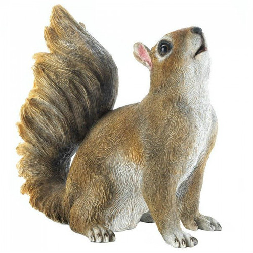 Bushy Tail Squirrel Garden Decor