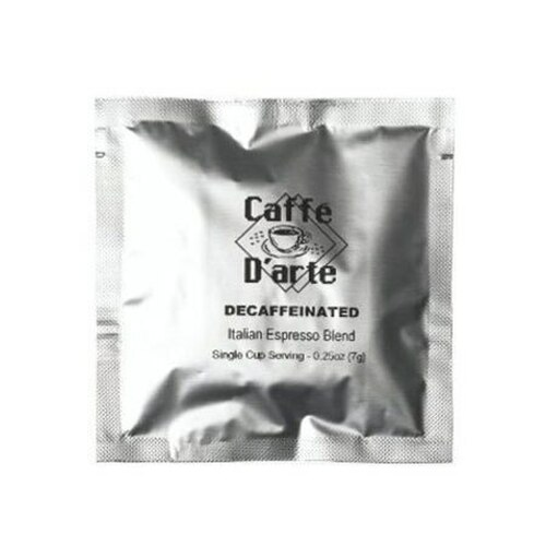 Caffe D'arte Decaf. Espresso Pods (120 count): Firenze (Northern Italian Blend) (4137)