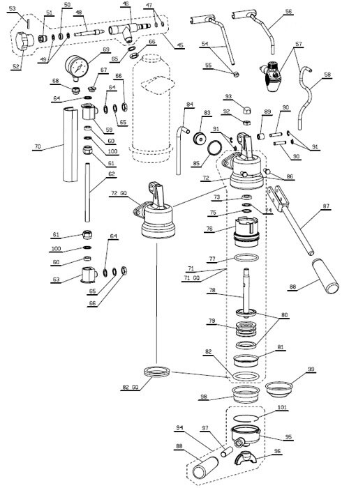 La Pavoni Europiccola Professional Parts Diagram