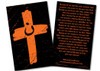 Orange Cross Project Blessed Be the Martyrs Prayer Card