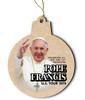 Pope Francis U.S. Tour 2015 Round Wood Ornament