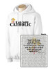 Rock Solid Catholic White Hoodie