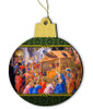 Nativity Scene Wood Ornament