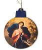 Mary Undoer of Knots Detail Wood Ornament