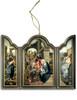 Adoration of the Magi (Dark Blue) Triptych Wood Ornament