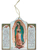 Our Lady of Guadalupe Triptych Wood Ornament
