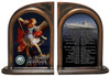 St. Michael Navy Bookends