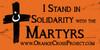 Orange Cross Project Martyr Solidarity Bumper Sticker