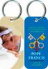 Pope Francis Embracing a Child Commemorative Apostolic Journey Keychain