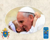 Pope Francis with Child Commemorative Sleeved Print