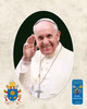 Pope Francis Waving Commemorative Sleeved Print