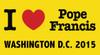 I Love Pope Francis Washington D.C.  2015  Bumper Sticker