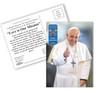 Pope Francis Thumbs Up Commemorative Apostolic Journey Postcards