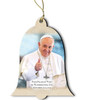 Pope Francis Visit Washington D.C. Wood Bell Ornament