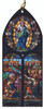 Assumption of Mary Stained Glass Wood Ornament