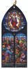 Ascension of Christ Stained Glass Wood Ornament