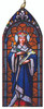 St. Louis IX Stained Glass Wood Ornament