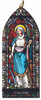 St. Philomena Stained Glass Wood Ornament