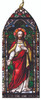 Sacred Heart of Jesus Stained Glass Wood Ornament