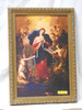 Mary Undoer of Knots 10x14 Gold Framed Print